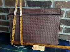 VINTAGE 1990's COSCI / GUCCI INTRECCATO LEATHER WEAVE BRIEFCASE BAG R$598