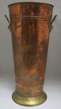 Rare large french copper umbrella stand art deco nouveau martelé