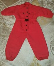 C1997 American Girl of Today Red Dogsled  Red Snowsuit Pleasant Company