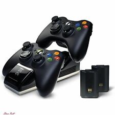 Xbox 360 Accessories Charger Station Controller Battery Kit Play Video Game NEW