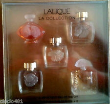 "Coffret 5 miniatures eau de  parfum "" LALIQUE LA COLLECTION "" 4,5ml x 5"