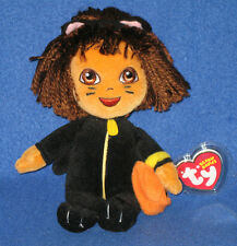 TY DORA the EXPLORER (CAT COSTUME) BEANIE BABY - MINT with MINT TAGS