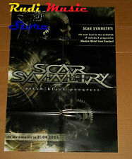 POSTER PROMO SCAR SYMMETRY PITCH BLACK PROGRESS 84X59,5cm NO cd dvd vhs lp live