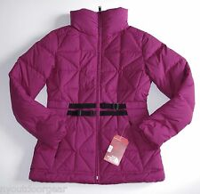 New The North Face Womens MERA PEAK Insulated Down Jacket Parka Medium Plum Pink