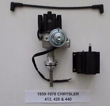 CHRYSLER 413-426 HEMI-440 1959-1978 BLACK Small Female Cap HEI Distributor &Coil