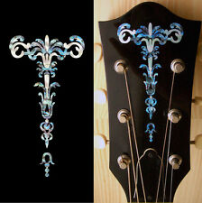 Gothic Torch (Abalone Blue) Inlay Sticker Decal Guitar Headstock Peghead