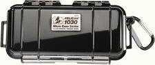Pelican 1030 Solid Black Micro Case with Free engraved nameplate