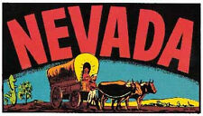 Nevada    Stagecoach   Vintage-50's Style  Travel Decal