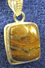 Tiger Iron natural stone pendant necklace rock healing jewelry