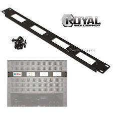 Royal Racks 1U Four Insert Decor Decorative Panel for Metal AV Rack Cord ROY1230