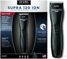 Andis Supra 120 Ion Professional Rechargeable Cordless Hair Clipper # 68265 NEW