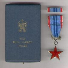 CZECH. Order of the Red Star of Labour with ribbon bar in original case