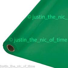 100ft fete en plastique vert buffet banquet rouleau table de fête housse tablecover