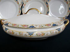 NORITAKE NIPPON- c.1912- OVAL COVERED SERVING BOWL- FLORAL BAND- GREAT!! GILT!!