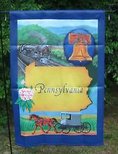 "Decorative State of Pennsylvania House Flag -  Two Sided - NEW - 28"" x 40"""