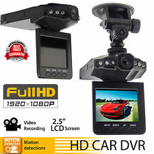 "1080P HD 2.5"" Car DVR Camera Vehicle Dashboard Cam Recorder CCTV Night Vision OB"