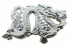 Solid Brass Chinese Dragon Silver Belt Buckle Branded Baron Buckles Product