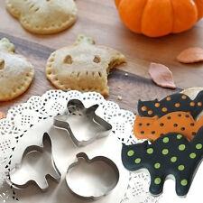 3 piezas de Halloween Acero Inoxidable Bizcocho Masita Pastelería Fondant Molde Molde Cortador