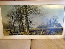 "Huge Lovely David Shepherd 1985 ""Landscape"" Print- Signed And Framed"