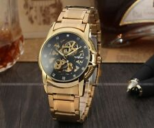 Luxury Stainless Steel Gold Mechanical Watch