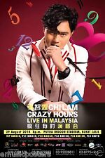 "CHILAM ""CRAZY HOURS LIVE IN MALAYSIA"" 2014 KUALA LUMPUR CONCERT TOUR POSTER"