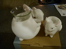 Partylite MAMA & BABY BUNNYS NATURES LOVE TEALIGHT HOLDERS  NIB