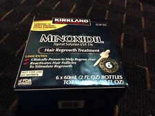 Kirkland Minoxidil 5% Extra Strength Men 6 Month Supply Hair Regrowth Solution