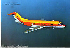 Postcard 257 - Plane/Aviation Fokker F-28 Fellowship