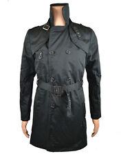 Eleven Paris Men's 'Pity Line' Trench Coat Black (EPJK012)