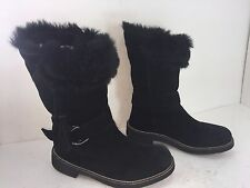 EARTH DIVA WITH KALSO TECHNOLOGY FUR WINTER BOOTS BLACK SZ 7.5 B