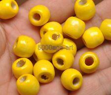 50pcs 100pcs wood beads big hole charms Wooden loose bead 12 colors u pick