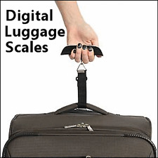Travel Digital Luggage Suitcase Weight Scales Includes Thermometer Baggage Weigh