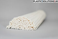 PP Plastic welding rods (5mm) white triangle, pack of 10 rods  /polypropylene/