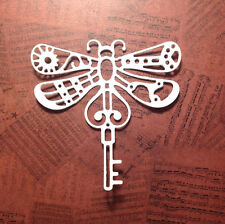 NEW - Large Steampunk Dragonfly Die-Cuts (White) Pack Of 6