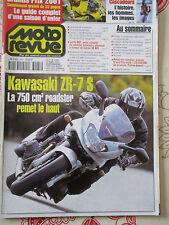 MOTO REVUE N° 3465 : 22/03/2001 : KAWASAKI ZR-7S - HVA 570 SMR - CB 600 F -VX800