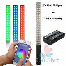 YONGNUO YN360 LED Video Light 3200K 5500K RGB Colorful 40CM + NP-F550 Battery