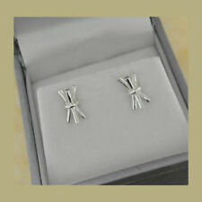 Sterling Silver Irish St. Brigid's Cross Rush Bale Earrings Spirit of Ireland