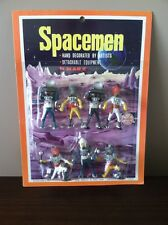 Vintage MARX SPACEMEN (7) Hand Decorated MOC - STORE STOCK - Beautiful LOOK!!!!!