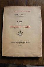 MAURICE BARRES - autour de Jeanne d'Arc - ed. Honoiré Champion 1916, ed. orig.