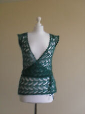 Womens jumper/ shrug by Miss Selfridge, size 8, green, mohair