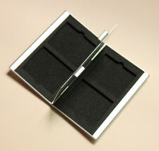 Compact Flash Memory Card Protecter Box Storage Case Holder 4x CF Aluminum