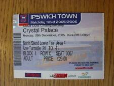 26/12/2005 Ticket: Ipswich Town v Crystal Palace