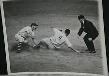 1936 Lou Gehrig, World Series Game 2, Thrown Out at Second Base.Orig. Wire Photo