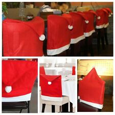 1PC Santa Claus Hat Chair Back Covering Christmas Dinner Party Home Table Decor