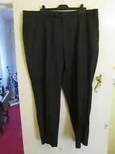 Mens Navy & Blue Pinstripe Formal Pleat Front Trousers by Next - W32 in. L30
