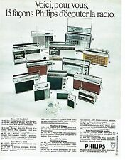 PUBLICITE ADVERTISING  017  1971   les radios minisstor transitor Philips