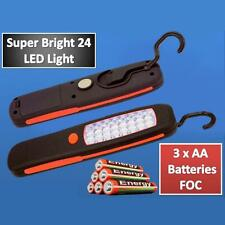 24 LED Inspection Cordless Magnetic Lamp Torch Flashlight Camping Work Light