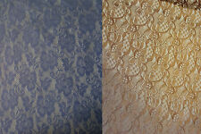 Beautiful Nude and Purple colours Floral Stretch Quality Lace Fabric