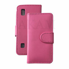 PU Leather Magnetic Book Flip Case Cover For Nokia Asha 300