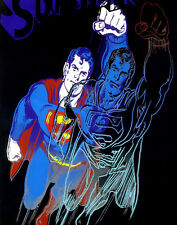 Warhol Andy Blue Superman Canvas 16 x 20  #4787